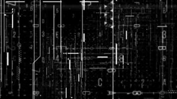 Fondo abstracto de línea digital de alta tecnología video