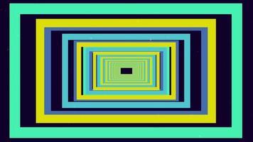 mehrfarbiger rechteckiger Tunnelhintergrund video