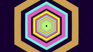fundo multicolor hexágono túnel