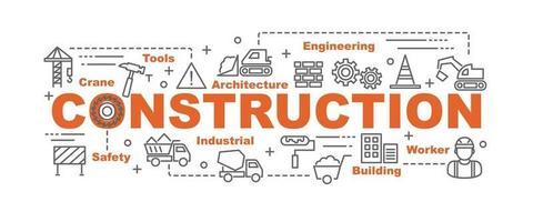 banner de vector de construcción