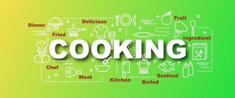 banner de moda de vector de cocina
