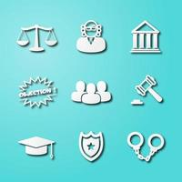 law paper art icons vector