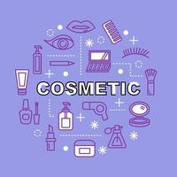cosmetic minimal outline icons vector