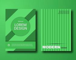 green abstract material design cover vector