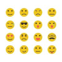 yellow emotion icons vector