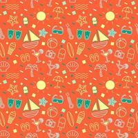 summer seamless pattern background vector