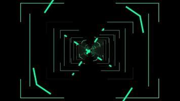 alvo do túnel com foco nas linhas verdes