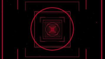 alvo do túnel com foco nas linhas vermelhas