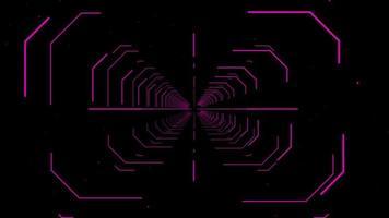 alvo do túnel com foco linhas rosa