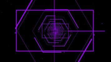 alvo do túnel com foco nas linhas roxas