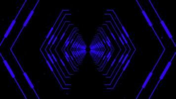 alvo do túnel com foco em linhas azuis