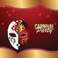 Carnival or mardi gras invitation greeting card and background vector