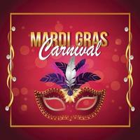Creative vector illustration of mardi gras celebration background