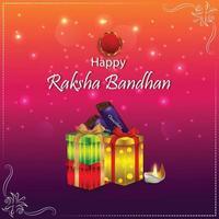 Raksha bandhan invitation greeting card, Raksha bandhan the festival of brother and sister vector