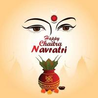 Navratri indian festival celebration background vector