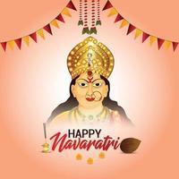 Vector illustration of goddess durga for happy navratri