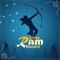 Ilustración vectorial de shri ram para la feliz celebración ram navami vector