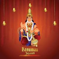 Vector illustration of Lord hanuman for hanuman jayanti