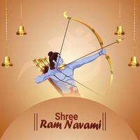 Vector illustration of shri Ram for happy ram navami celebration