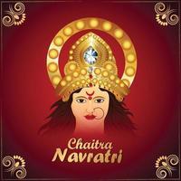 Goddess durga vector illustration for happy navratri