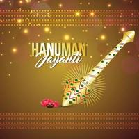 Vector illustration of indian festival hanuman jayanti celebration greeting card