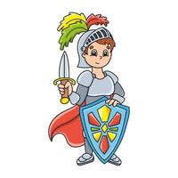 Cute character. Colorful vector illustration. Cartoon style. Isolated on white background. Design element. Template for your design, books, stickers, cards, posters, clothes.