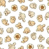 popcorn seamless pattern background vector