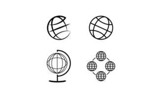 Earth globes isolated on white background. Flat planet Earth icon. Vector illustration