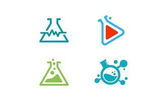 Laboratory logo design template vector