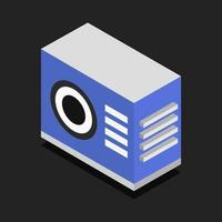 Isometric Air Conditioner On Background vector