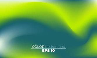 Abstract blurred gradient mesh background in bright summer colors vector