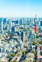 horizonte de tokio en japón foto