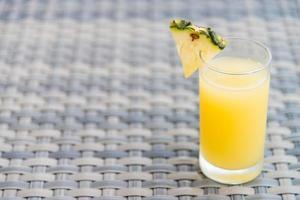 Pineapple juice glass photo