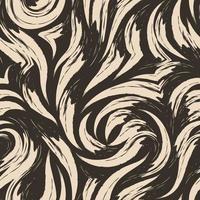 vector patrón abstracto sin fisuras de trazos de pincel de color beige sobre un fondo oscuro.
