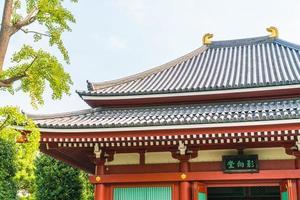 Templo sensoji en el área de Asakusa de Tokio, Japón
