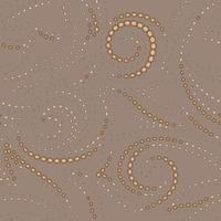 Vector light geometric texture with black stroke on a beige background. Spirals and lines from simple shapes pattern for fabrics or paper.