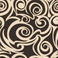 Seamless vector beige pattern of spirals and curls.