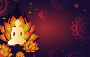Happy Vesak Day Background Template vector