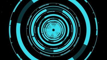 Hi-tech circle tunnel background for VJ or dance music entertainment video