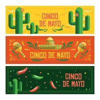 Cinco De Mayo Banner Set vector