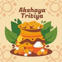 Colorful Akshaya Tritiya Concept vector