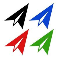 Paper Plane Icon On White Background vector