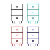 icono de armario sobre fondo blanco vector