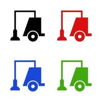 Vacuum Cleaner Icon On White Background vector