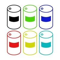 Oil Barrel Icon On White Background vector