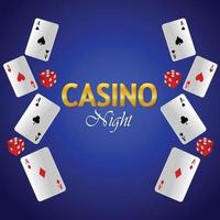 Casino vip luxury gambling game with vector playing cards