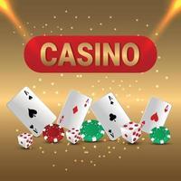 Casino luxury vip background with creative illustration vector
