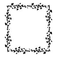 marcos cuadrados de pascua. Marco cuadrado hecho de ramas de sauce. Corona de Pascua hecha de tallos de sauce. Ilustración plana de vector. diseño para invitaciones, imprenta. ilustración vectorial vector
