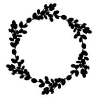 willow easter wreath.corona redonda de ramas de sauce. ilustración vectorial aislado en un fondo blanco. diseño para pascua, boda, decoración de primavera vector