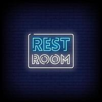 Restroom Neon Signs Style Text Vector